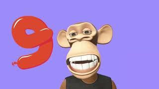 Aprende a CONTAR Del 1 al 10 con el Mono Gus .❤️