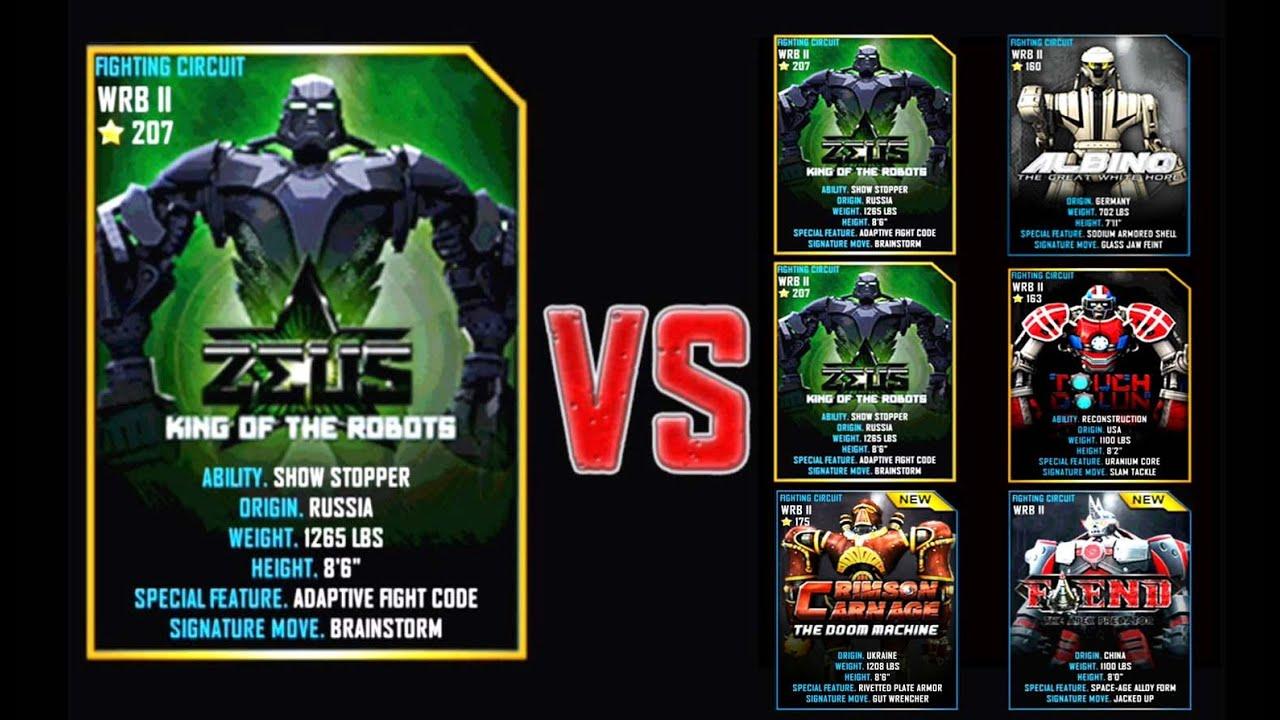 real steel wrb zeus (champion) series of fights new robot (Живая