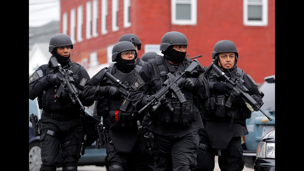 Martial Law Boston Swat Teams Force Americans Out Of Homes At