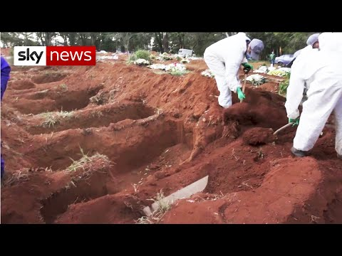 Brazilians dig mass graves as Bolsonaro dismisses COVID-19 pandemic as 'a little flu'