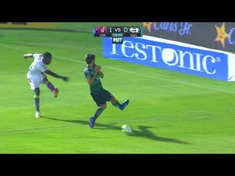 Gol de B. Carrasco | Veracruz 1 - 0 Santos Laguna | LIGA Bancomer MX - Clausura 2019 - Jornada 10