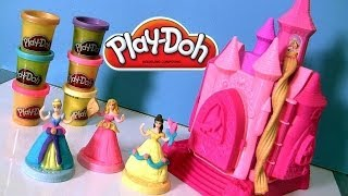 Play Doh Prettiest Princess Castle Playset New Disney Belle Cinderella Aurora Playdough Design Dress