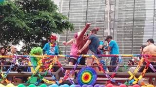 sense8 getting insane at gay pride parada gay sao paulo brazil. Brian getting naked