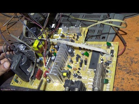 How to rapair Power Problem Of A CRT Color Television (Part 2) - Bengali Tutorial