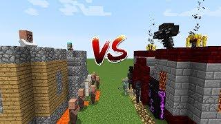 Minecraft Battle: CASTLE VILLAGER VS MONSTER BOSS CASTLE