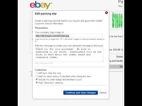 How To Edit eBay Packing Slips - YouTube - packing slips for shipping