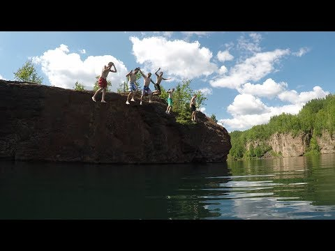 Eveleth Minnesota Cliff Jumping 2017