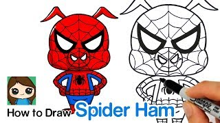 How to Draw Spider Ham | Spider Man Into the Spider Verse