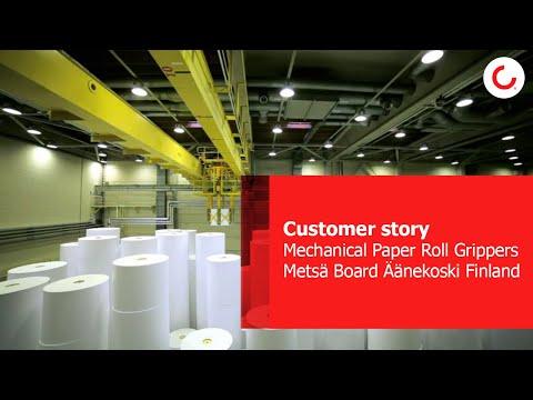 Mechanical Paper Roll Grippers at Metsä Board Äänekoski Finland in Chinese