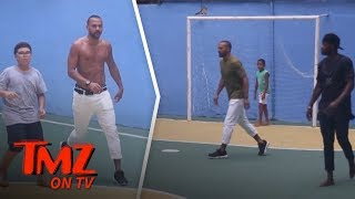 Jesse Williams Shirtless Soccer Fun In Brazil | TMZ TV