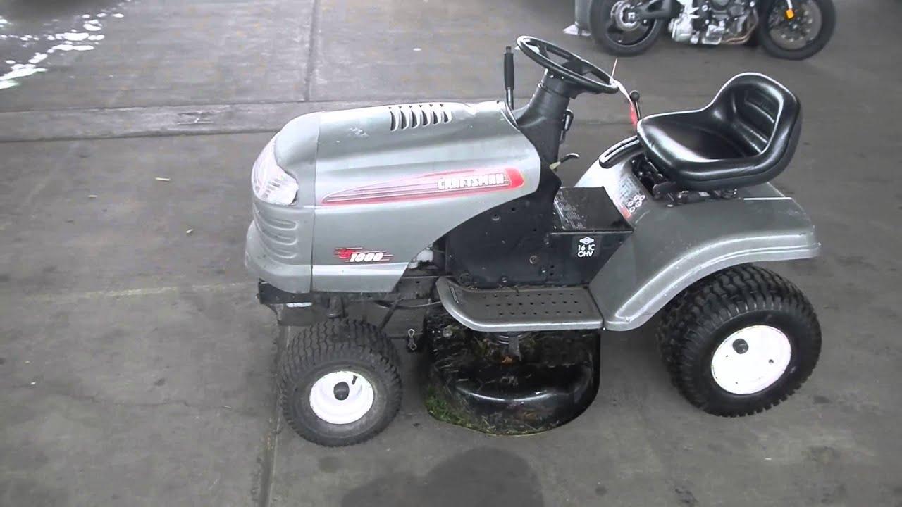 Craftsman Lt 38 Cut Riding Lawn Mower