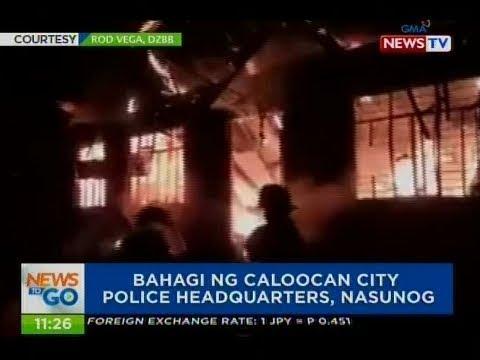 NTG: Bahagi ng Caloocan city police headquarters, nasunog