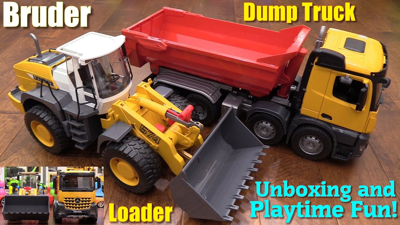 Toy trucks for kids bruder construction loader and for Mercedes benz truck toys