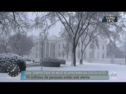 Nova tempestade de neve atinge os EUA nesta quarta-feira | SBT Brasil (21/03/18)