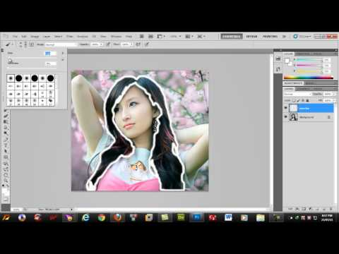 Doi mau toc bang photoshop - Change hair color in Photoshop.mp4