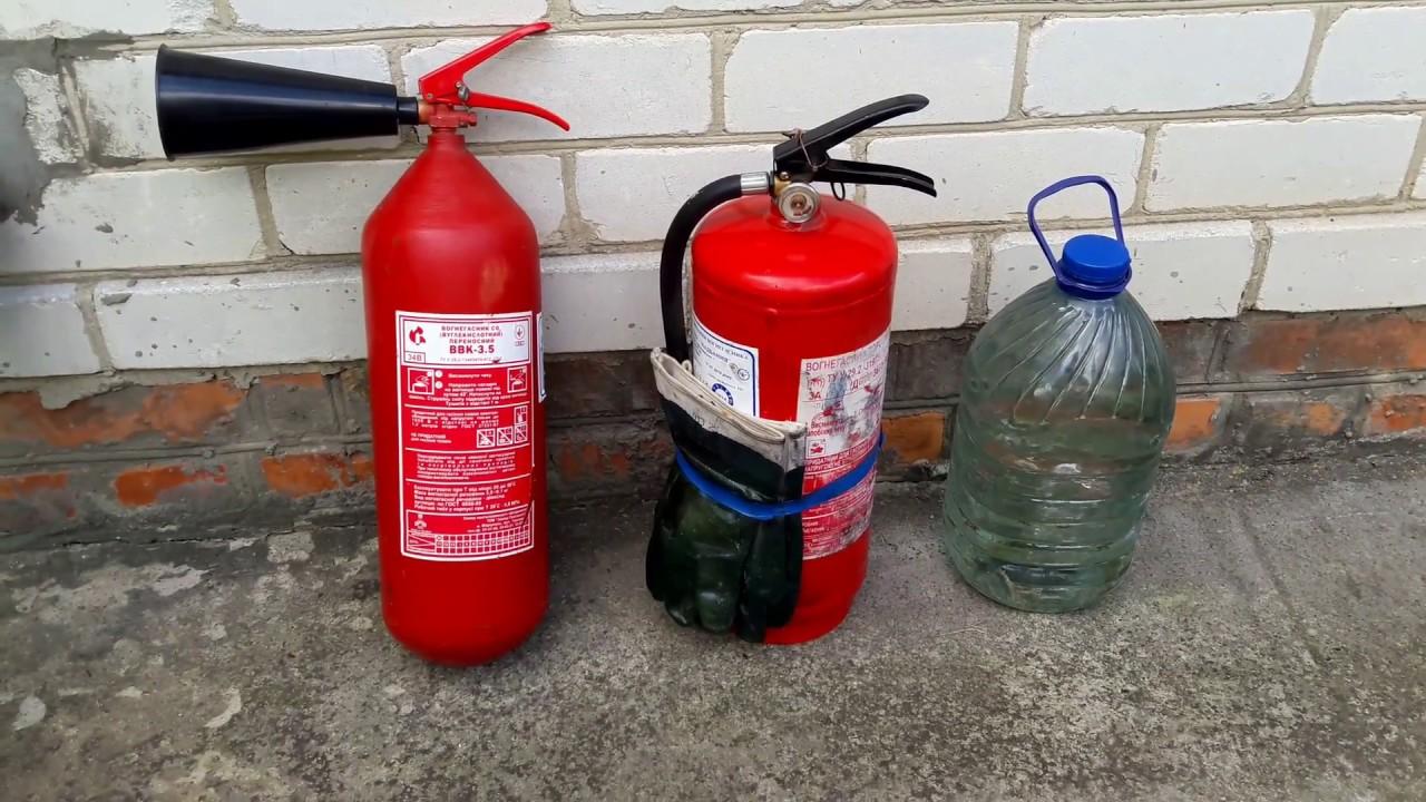 Какой огнетушитель нужен для автомобиля порошковый или углекислотный