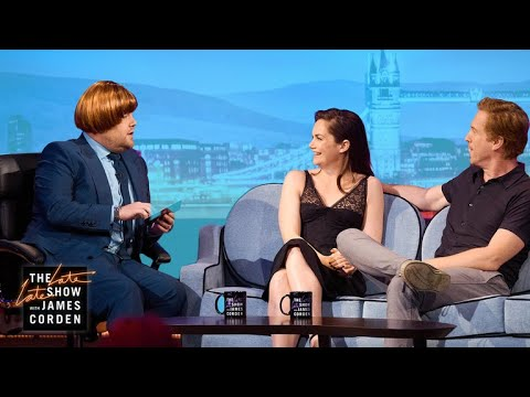 Ruth Wilson & Damian Lewis Help James Go Ginger #LateLateLondon