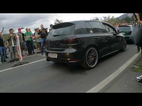 """Wothersee 2017 ( Faaker see ) - TurboKurve Golf GTI - ,,RATATATA"""" backslide exhaust pipe"""