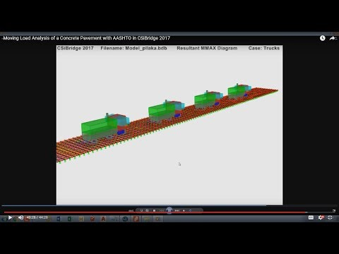 Moving Load Analysis of a Concrete Pavement with AASHTO in CSiBridge 2017