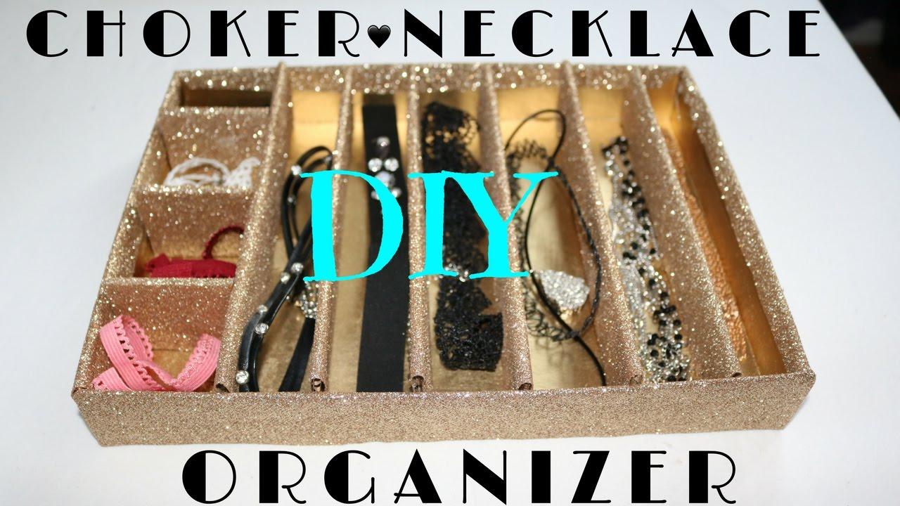 DIY CHOKER Necklace Organizer YouTube