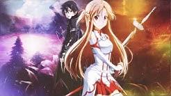 Anime Wallpaper ( Sword Art Online , Kirito , Asuna )