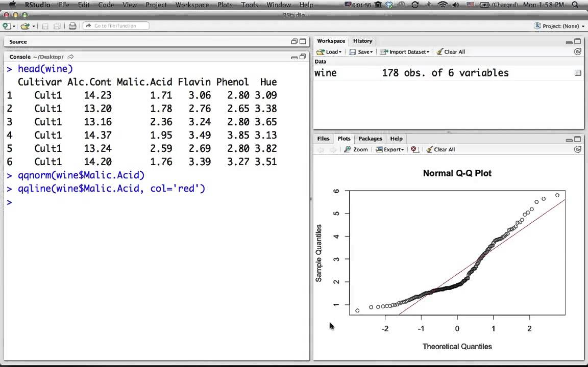 Creating Qq Plots In Rstudio Youtube