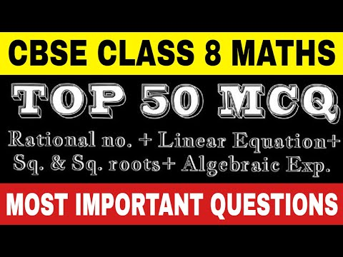 Mcq Class 8 Maths Rational Numbers Linear Equation Sq And Sq Roots Algebraic Exp Youtube