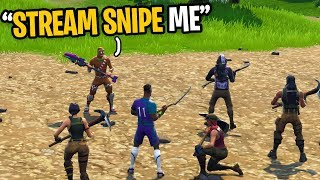 I Challenged STREAM SNIPERS To Beat Me In Fortnite... (Full Lobby of Fans)