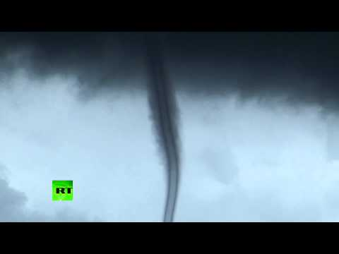 Rare video: Tornadic waterspout life-cycle shot on camera in France