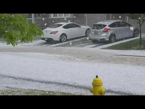 Hail in Ottawa June 2017