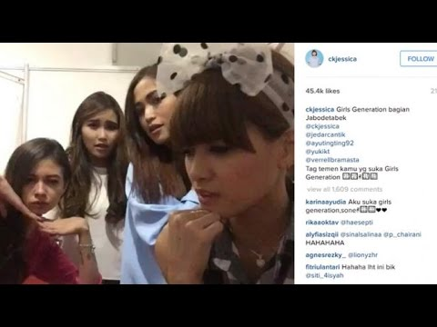 Saat Chika Jessica, Ayu Ting Ting & Jesicca Iskandar Tiru SNSD