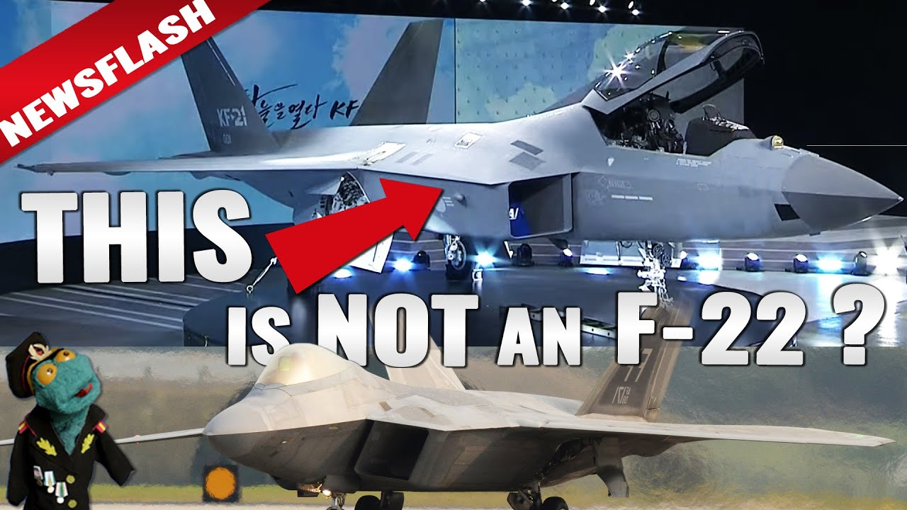 KF-21 fighter just unveiled. Not a baby F-22? (Newsflash video)
