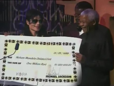 Michael Jackson & Nelson Mandela en los Kora All African Music Awards - 1999