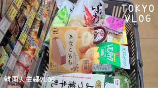 Vlog l Shopping at Japanese marts and convenience stores, Making Beef Rice