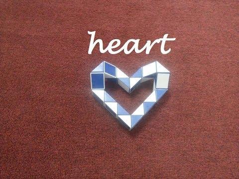 Smiggle Snake Puzzle Or Rubik's Twist 24 - Basic Heart - 心