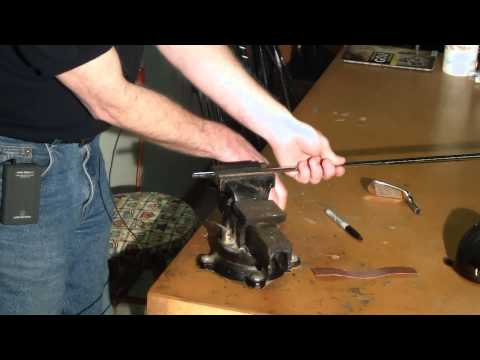 How To Assemble A Custom Golf Club Part 5 - How To Properly Abrade Or Sand A Golf Shaft Tip