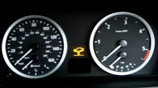 BMW E60 2005 525D Transmission warning on first start.