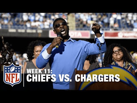 LaDainian Tomlinson Gets His Number Retired | Chiefs vs. Chargers | NFL