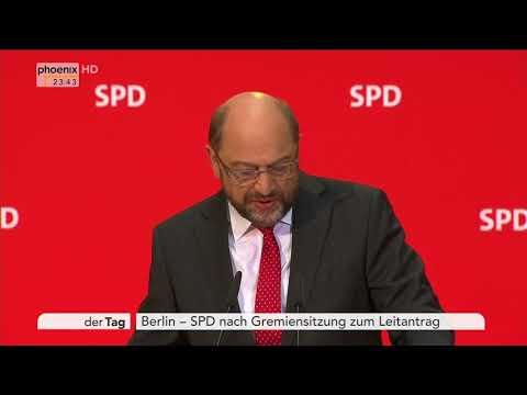 Pressekonferenz mit Martin Schulz am 06.11.17