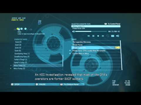 """Metal Gear Solid V - Tape Recordings Intel: Africa Today 1: """"Private Force CFA"""" Audio Log Dialogue"""