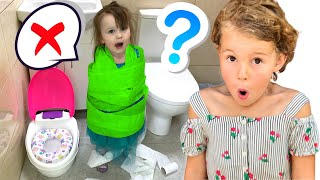 Five Kids Potty Song + more Children's Songs and Videos