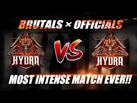 HYDRA OFFICIAL VS BRUTAL HYDRA | BEST VS BEST | FyzZeR Against Top Indian Teams | #HailHydra