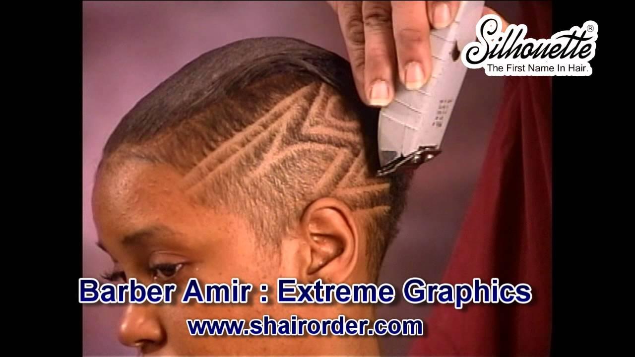 Hair Instructional Video Barber Amir African American Woman