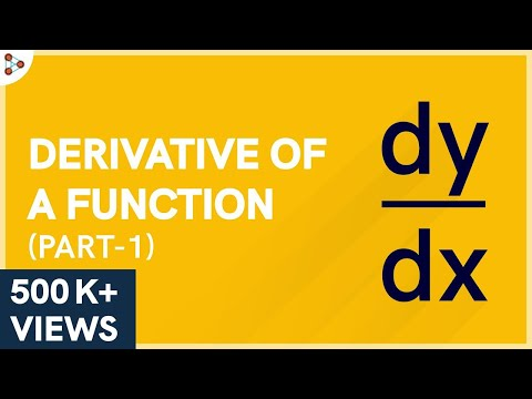 Calculus - Derivative Of A Function - Lesson 7