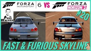 Forza Motorsport 6 (For Paul) Vs Forza Horizon 2 | Fast & Furious Skyline '99 | Sound Comparison #20