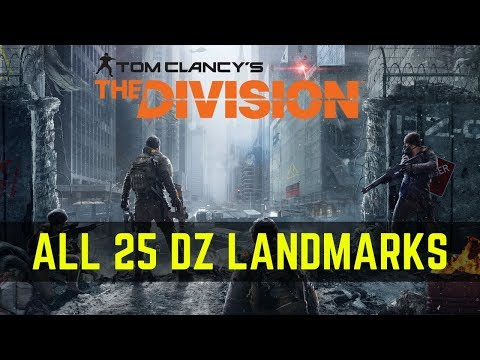 The Division All 25 DZ Landmarks Cleared - The Tourist Commendation Unlocked!
