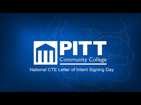 National CTE Letter of Intent Signing Day | Pitt Community College