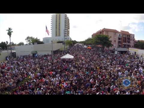 Calle Ocho 2014 - Drone View HD Video