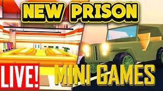 🔴BRAND NEW PRISON UPDATE AND MINI GAMES!!! (ROBLOX Jailbreak)🔴