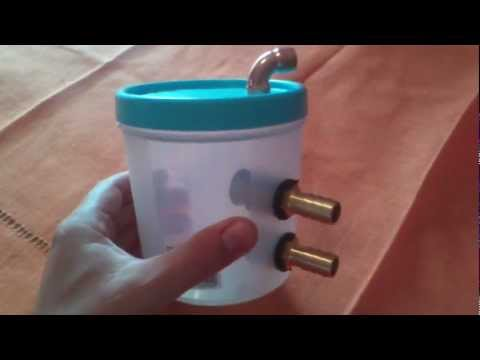 How to make the cheapest HHO fuel cell bubbler in the world easy part 3 of 4